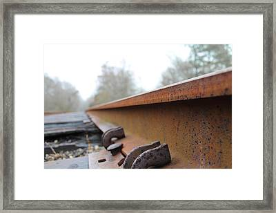 Rusted Track Framed Print