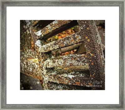Rusted Treasure From An Old Mill In Ontario Framed Print by Inspired Nature Photography Fine Art Photography
