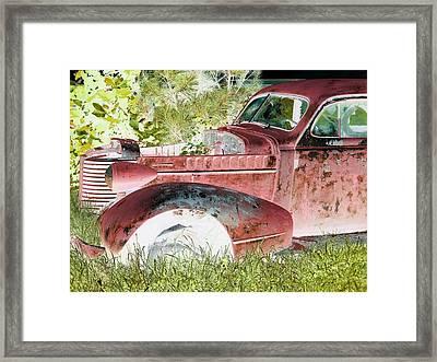 Rusted Truck 4 Framed Print by Dietrich ralph  Katz