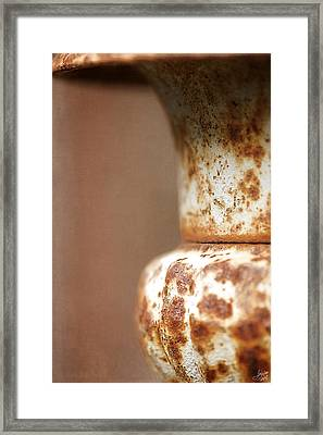 Rusted Urn Framed Print by Lisa Knechtel