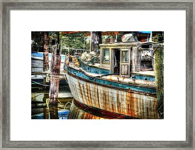 Rusted Wood Framed Print