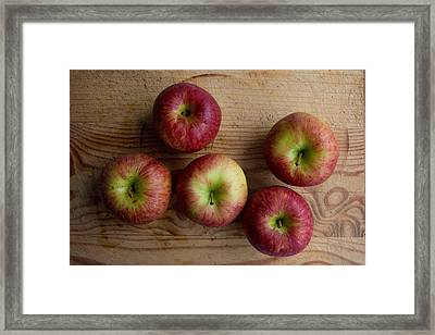 Framed Print featuring the photograph Rustic Apples by Jocelyn Friis
