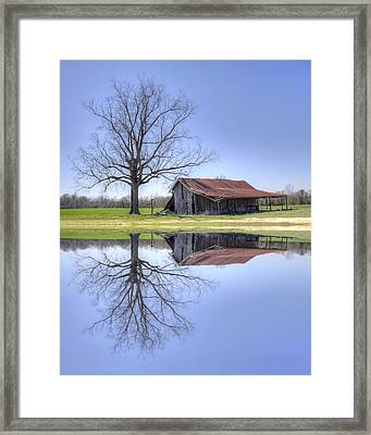 Rustic Barn Framed Print by David Troxel
