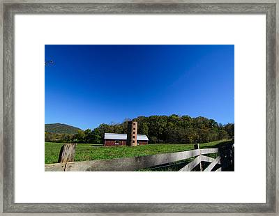 Rustic Barn In Wnc Framed Print by Hunter Ward