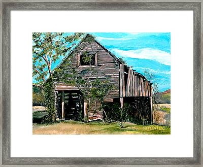 Rustic Barn - Mooresburg - Tennessee Framed Print