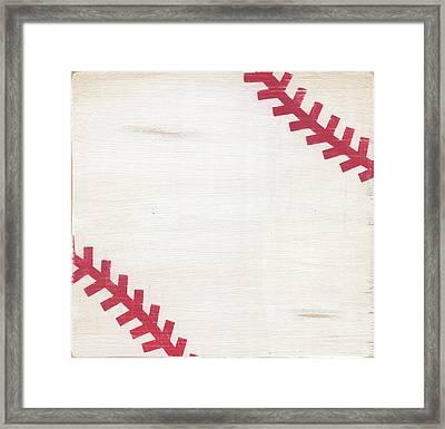 Rustic Baseball Framed Print by Alli Rogosich