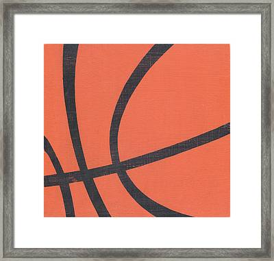 Rustic Basketball Framed Print