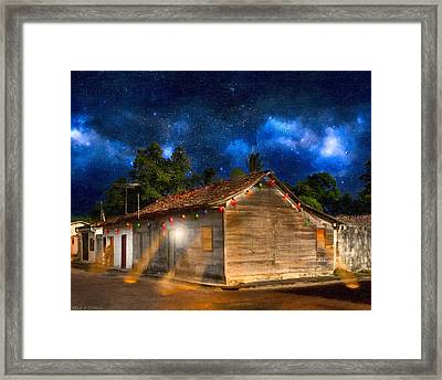 Rustic Beauty Of Costa Rica At Night Framed Print