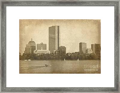 Rustic Boston Framed Print by Jayne Carney