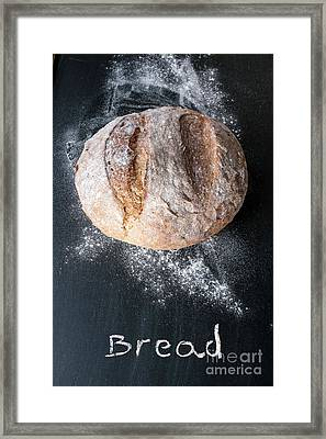 Rustic Bread Framed Print by Viktor Pravdica