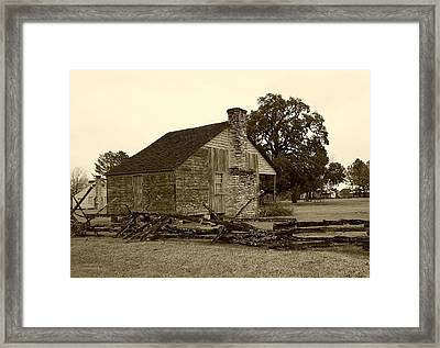Framed Print featuring the photograph Rustic Building by Ellen O'Reilly