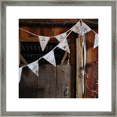 Framed Print featuring the photograph Rustic Bunting by Jocelyn Friis