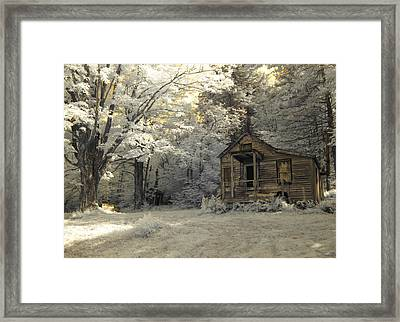 Rustic Cabin Framed Print by Luke Moore