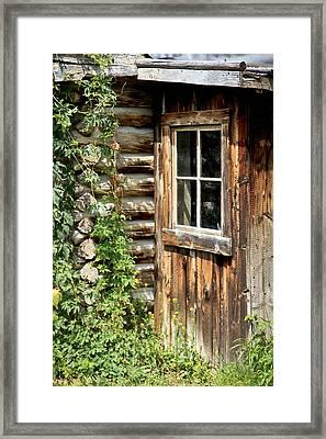 Rustic Cabin Window Framed Print
