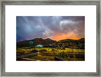 Rustic California Lumber Mill At Sunset Framed Print by Scott McGuire
