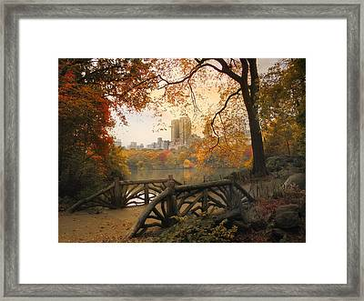 Rustic City View Framed Print