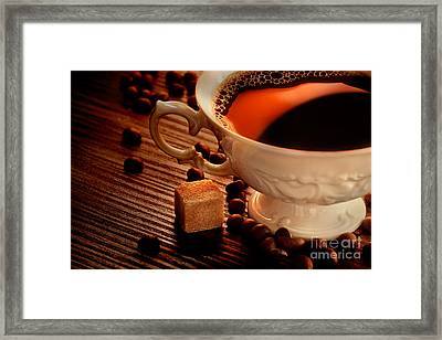 Rustic Coffee Framed Print by Mythja  Photography