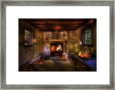 Rustic Country Cabin Framed Print by Mark Andrew Thomas