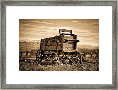 Rustic Covered Wagon Framed Print by Athena Mckinzie