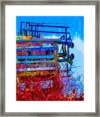 Rustic Docks Framed Print