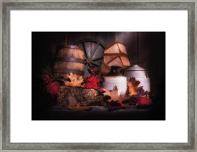 Rustic Fall Still Life Framed Print by Tom Mc Nemar