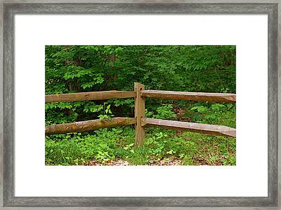 Rustic Fence Framed Print