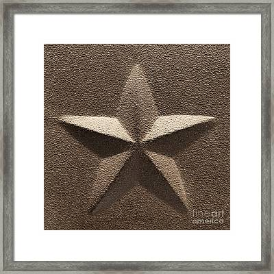 Rustic Five Point Star Framed Print by Olivier Le Queinec
