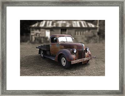 Framed Print featuring the photograph Rustic Ford Truck by Keith Hawley