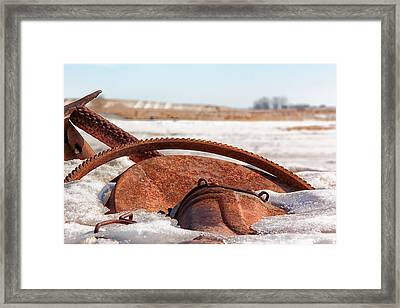 Rustic Gears Framed Print by Christy Patino