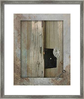 Rustic Glass Door Knob Framed Print