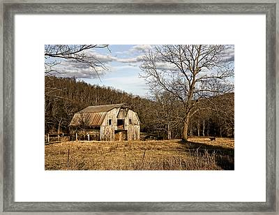Framed Print featuring the photograph Rustic Hay Barn by Robert Camp