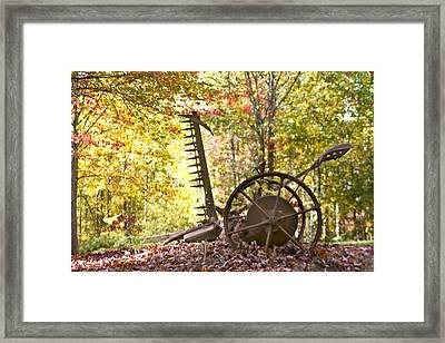 Framed Print featuring the photograph Rustic Hay Cutter by Robert Camp
