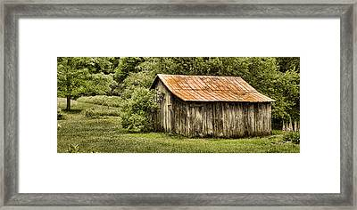 Rustic Framed Print by Heather Applegate