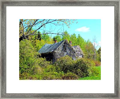 Rustic History Framed Print