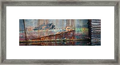 Rustic Hull Framed Print