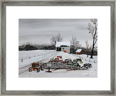 Rustic Iron  Framed Print by Jack G  Brauer