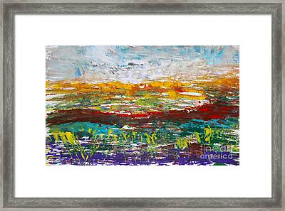 Rustic Landscape Abstract Framed Print