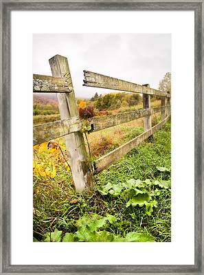 Rustic Landscapes - Broken Fence Framed Print by Gary Heller