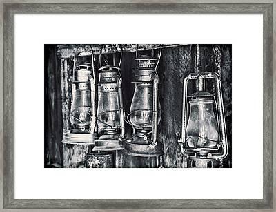 Rustic Lanterns Framed Print by Kelley King
