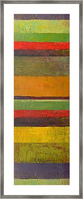 Rustic Layers 3.0 Framed Print by Michelle Calkins