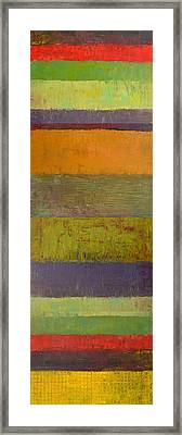 Rustic Layers 4.0 Framed Print by Michelle Calkins