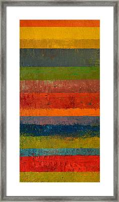 Rustic Layers 5.0 Framed Print by Michelle Calkins