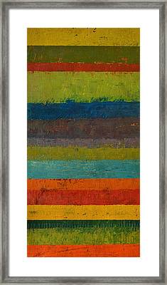 Rustic Layers 6.0 Framed Print by Michelle Calkins