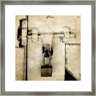 Rustic Lock Out Framed Print
