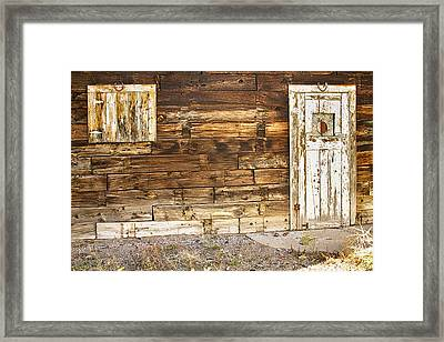 Rustic Old Colorado Barn Door And Window Framed Print by James BO  Insogna