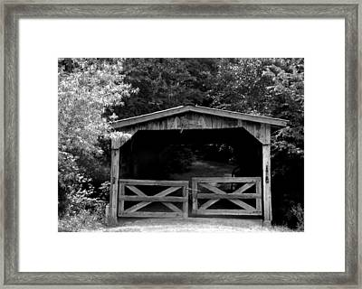Rustic Past Framed Print