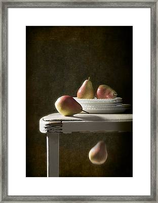 Rustic Pears Framed Print