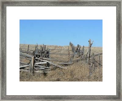 Framed Print featuring the photograph Rustic Range by Deborah Moen