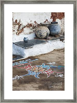 Rustic Rangoli  Framed Print