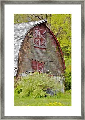 Rustic Red Barn II Framed Print